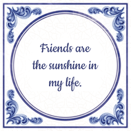 Friends are the sunshine in my life. (7.95 EUR)