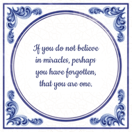 If you do not believe in miracles, perhaps you have forgotten, that you are one. (7.95 EUR)