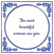 The most beautiful woman are you. (7.95 EUR)