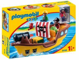 PLAYMOBIL 1, 2, 3: Piratenschip (9118) (22.45 EUR)