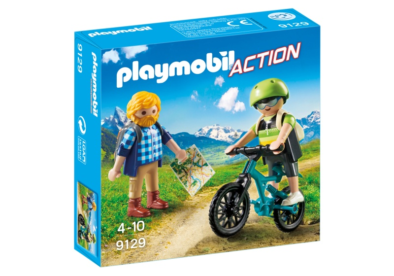 PLAYMOBIL Action: Wandelaar en mountainbiker (9129)