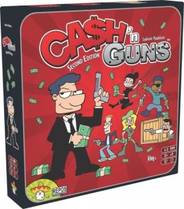 Repos Production gezelschapsspel Cash 'n Guns 2de editite (24.75 EUR) 31.00% korting