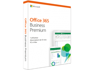 Office 365 Business Premium (FR) – 5 PC ou Mac + 5 tablettes + 5 smartphones (149.00 EUR)