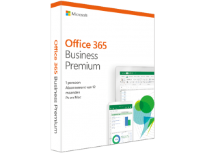 Office 365 Business Premium (NL) – 5 PC's of Mac + 5 tablets + 5 smartphones (149.00 EUR)
