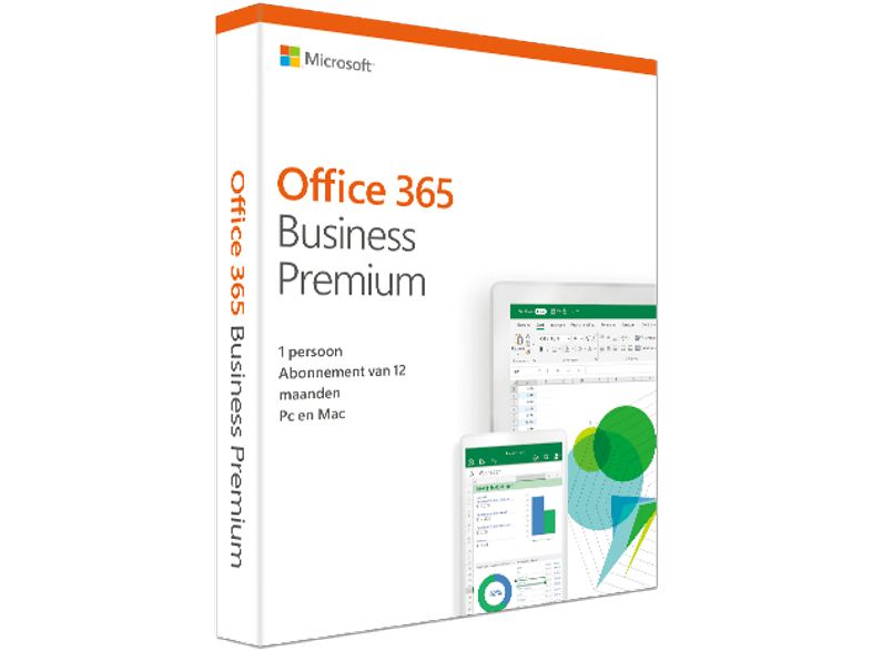 Office 365 Business Premium (NL) - 5 PC's of Mac + 5 tablets + 5 smartphones