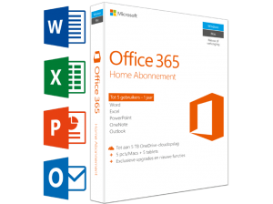 Office 365 Home (NL) – 5 PC's of Mac + 5 tablets + 5 smartphones (99.00 EUR)
