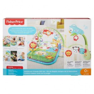 Fisher Price 3 In 1 Musical Activity Gym + Muziekmobiel Rainbow Forest (44.99 EUR)