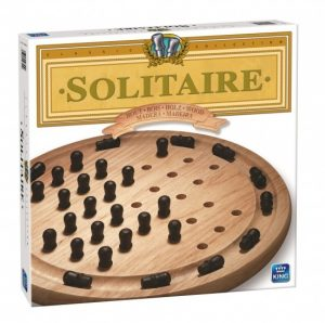 King strategiespel Solitaire hout (12.50 EUR) 25.00% korting