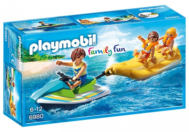 PLAYMOBIL Family Fun: Jetski met bananenboot (6980)