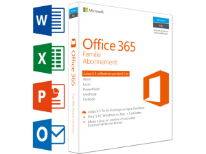 Office 365 Familie (FR) – 5 PC's of Mac + 5 tabletten + 5 smartphones (99.00 EUR)