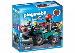 PLAYMOBIL City Action: Bandiet en quad met lier (6879) (9.40 EUR)