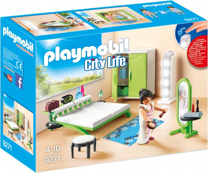 PLAYMOBIL City Life: Slaapkamer met make up tafel (9271)