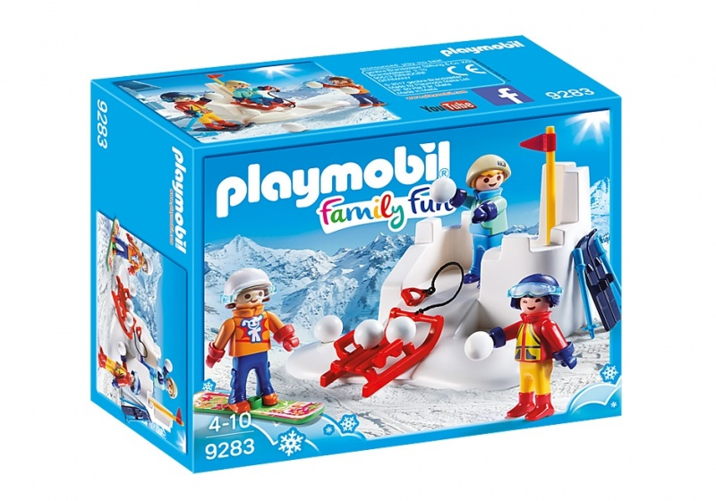 PLAYMOBIL Family Fun: Sneeuwballengevecht (9283)