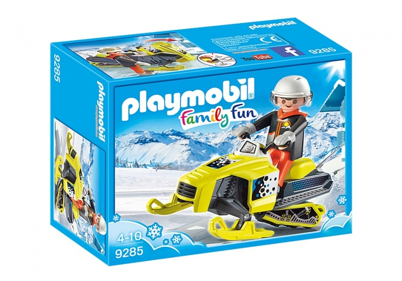 PLAYMOBIL Family Fun: Sneeuwscooter geel (9285)