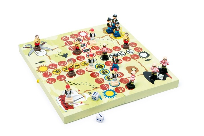 Small Foot Ludo Piratenbende hout 24 cm