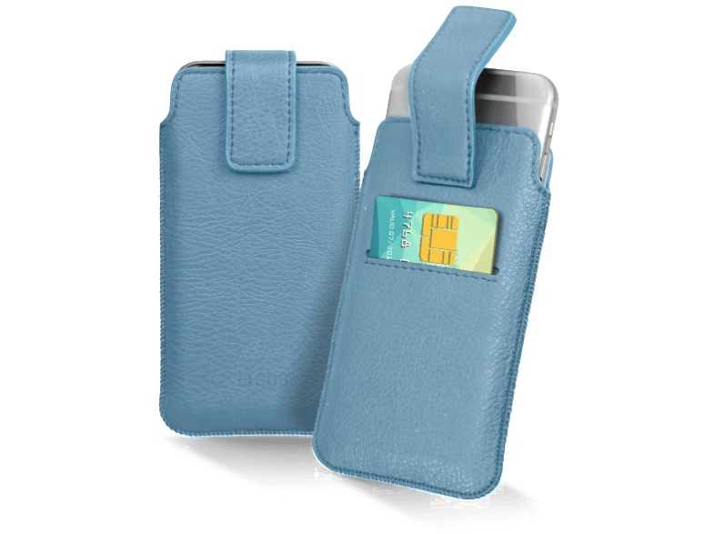 SBS Cover smartphone pocket XL 5'' Lichtblauw (TEPOCHECARDXLLB)