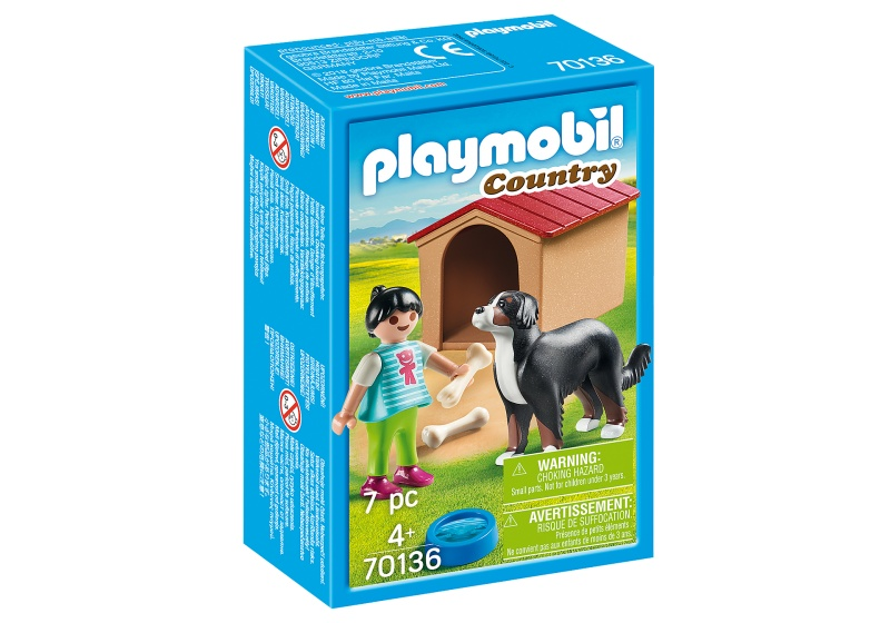 PLAYMOBIL Country Kind met hond (70136)