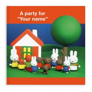 Boek met naam – Miffy a party for… (Engelstalig) (Softcover) ( 17.95 EUR)