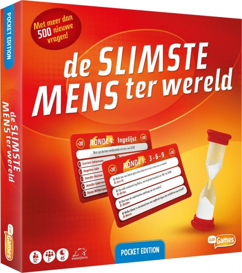 Just Games bordspel De Slimste Mens ter Wereld (pocket edition)
