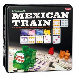 Tactic Domino spel Mexican Train in Tin Box s (14.95 EUR) 56.00% korting