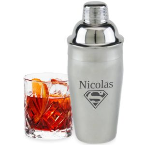 Cocktail Shaker met gravering (19.90 EUR)