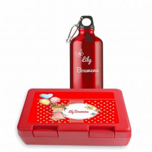 Gepersonaliseerde lunchbox en drinkfles (25.50 EUR)