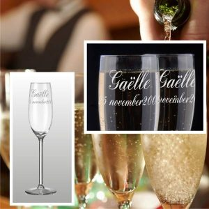 Party Champagneglas Cyntra met gravering (14.95 EUR)