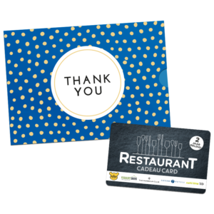 Restaurant Cadeau Card – Thank You (10.00 EUR)