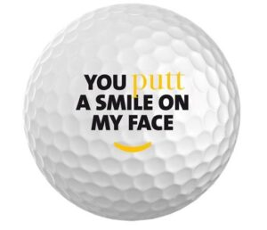 JUMBOGOLF You Putt A Smile On My Face Golfbal (2.49 €)